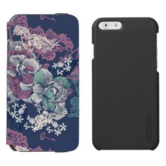Mystical Blue Purple floral sketch artsy pattern Incipio Watson™ iPhone 6 Wallet Case