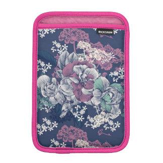 Mystical Blue Purple floral sketch artsy pattern iPad Mini Sleeve