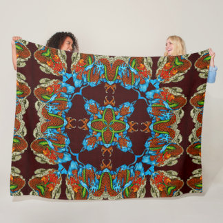 Mystical Chinese Dragon Spirit Silk Quilt Fleece Blanket