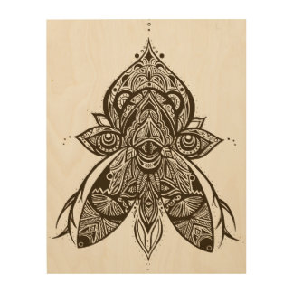 Mystical Creature Psychedelic Wood Wall Art