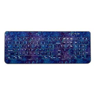 Mystical Deep blue ocean starfish on glitters Wireless Keyboard