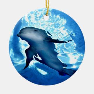 Mystical Dolphin.jpg Ceramic Ornament