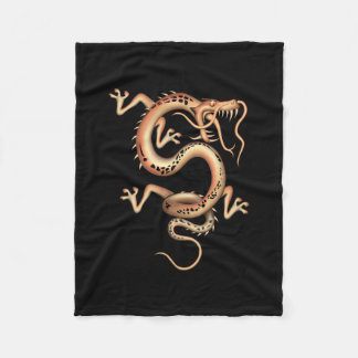 Mystical Dragon Fleece Blanket