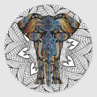 Mystical Elephant Artsy Stickers
