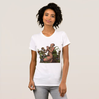Mystical Fairy Tale Elf Fairy in Mushrooms T-Shirt