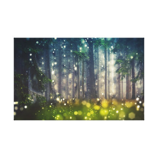 Mystical fairy tale forest, trees, landscape canvas print