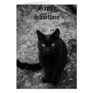 Mystical Feline - Happy Samhain Card
