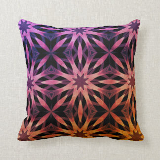 Mystical geometric kaleidoscope throw pillow