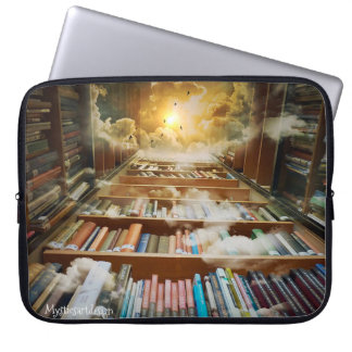 Mystical Infinite Bookshelf Reaching to Eternity Laptop Sleeve