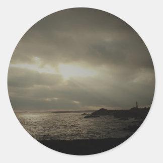 Mystical Lighthouse Classic Round Sticker