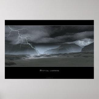 Mystical Lightning Poster