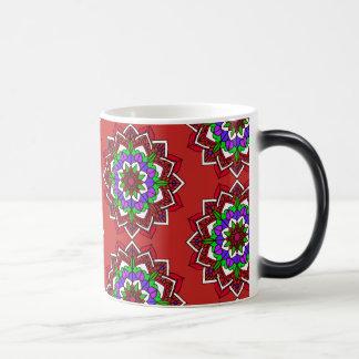 Mystical Mandala Red Purple Blue Coffee Cup