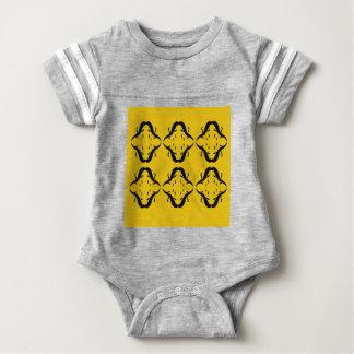 Mystical mandalas black on gold baby bodysuit