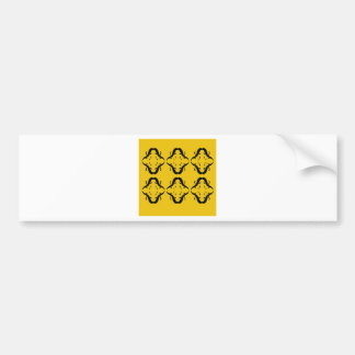 Mystical mandalas black on gold bumper sticker