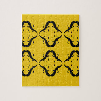 Mystical mandalas black on gold jigsaw puzzle