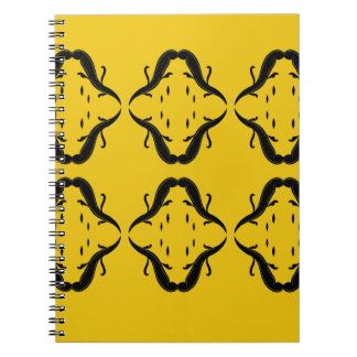 Mystical mandalas black on gold notebook