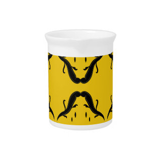 Mystical mandalas black on gold pitcher