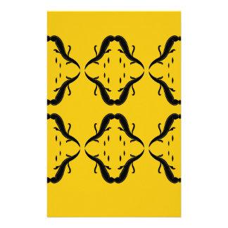 Mystical mandalas black on gold stationery