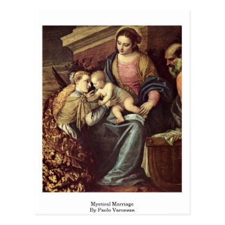 Mystical Marriage By Paolo Veronese Postcard