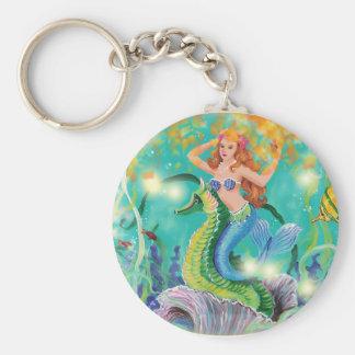 Mystical Mermaid n Seahorse Keychain