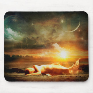 Mystical Mermaid with Moon on Magical Night Mouse Pad