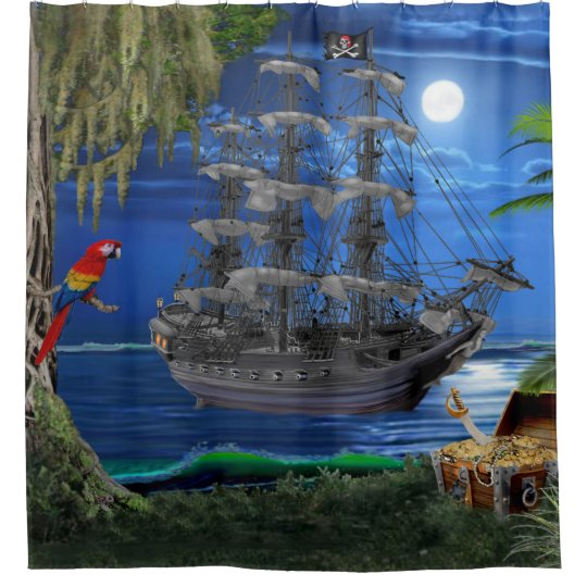 Mystical Moonlit Pirate Ship