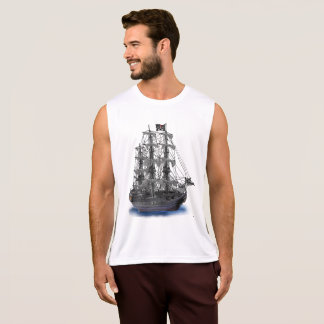 Mystical Moonlit Pirate Ship Tank Top