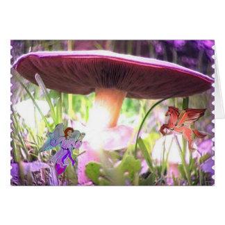 Mystical Mushroom Card