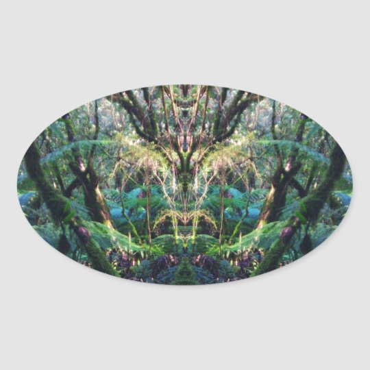 Mystical Oval Sticker