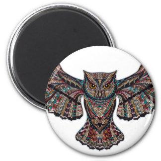 Mystical Owl 2 Inch Round Magnet