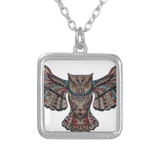 Mystical Owl Silver Plated Necklace