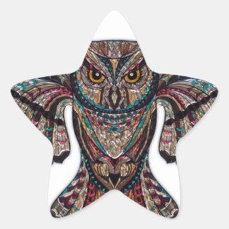 Mystical Owl Star Sticker