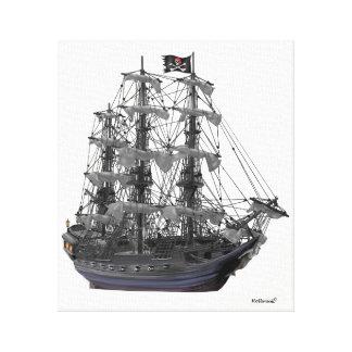 Mystical Pirate Ship Canvas Print