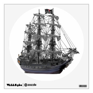 Mystical Pirate Ship Wall Sticker