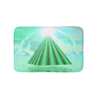 Mystical pyramid - 3D render Bath Mat