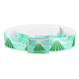 Mystical pyramid - 3D render Belt