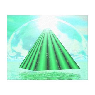 Mystical pyramid - 3D render Canvas Print