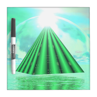 Mystical pyramid - 3D render Dry Erase Board