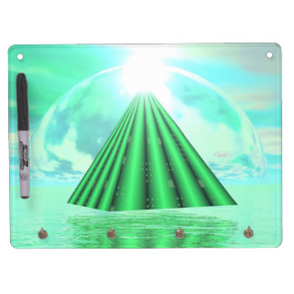 Mystical pyramid - 3D render Dry Erase Board With Keychain Holder