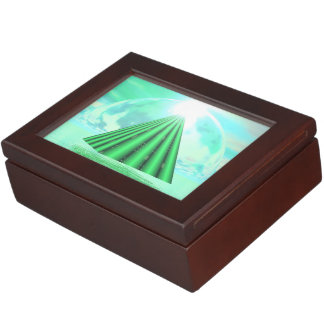 Mystical pyramid - 3D render Keepsake Box