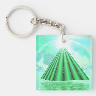 Mystical pyramid - 3D render Keychain