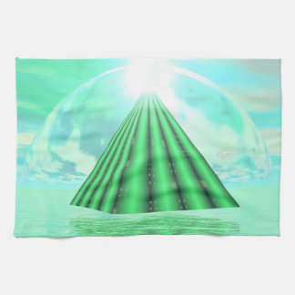Mystical pyramid - 3D render Kitchen Towel