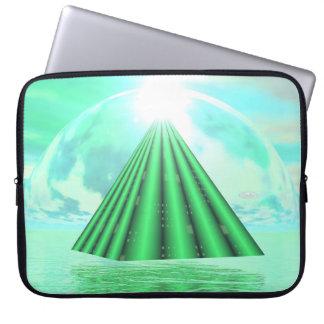 Mystical pyramid - 3D render Laptop Sleeve
