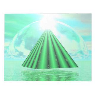 Mystical pyramid - 3D render Notepad