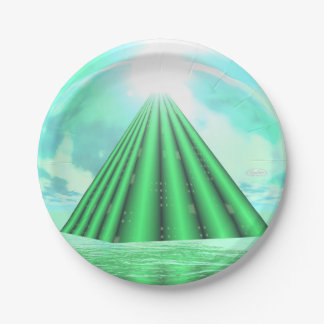Mystical pyramid - 3D render Paper Plate