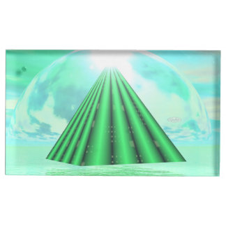 Mystical pyramid - 3D render Place Card Holder