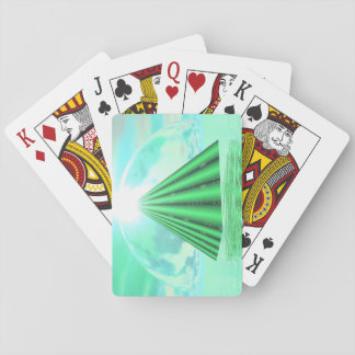 Mystical pyramid - 3D render Playing Cards