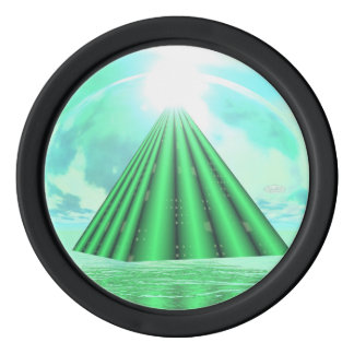 Mystical pyramid - 3D render Poker Chips