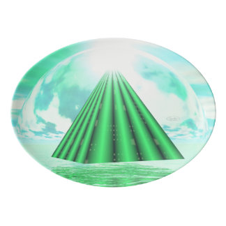Mystical pyramid - 3D render Porcelain Serving Platter