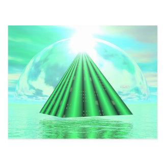 Mystical pyramid - 3D render Postcard